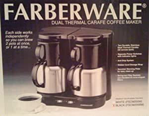 Amazon.com: Farberware, Dual Thermal Carafe Coffee Maker.: Kitchen & Dining
