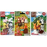 Iwako Japanese Erasers / Zoo Animals , Cute Animals, Safari Animals / Total 18 animals & 3 Parts Erasers Value Set(With Our Shop Original Product Description)