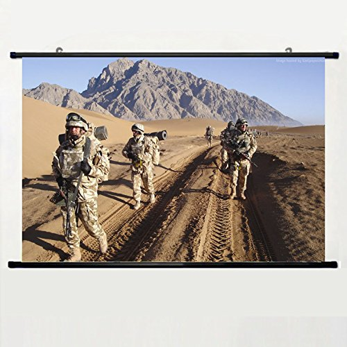 Romanian soldiers on patrol in Afghanistan