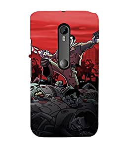 EPICCASE Zombie Killer Mobile Back Case Cover For Moto G Turbo (Designer Case)