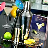 Cocktail-Book-Cocktail-Set-with-Cocktail-Shaker-Muddler-Jigger-Measure-Mixing-Spoon-24-x-Paper-Cocktail-Umbrellas-bardrinkstuff-Cocktail-Kit-Cocktail-Making-Pack
