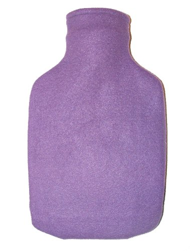 Warm Tradition Classic Purple Fleece Covered Hot Water Bottle - Bottle Made In Germany, Cover Made In Usa