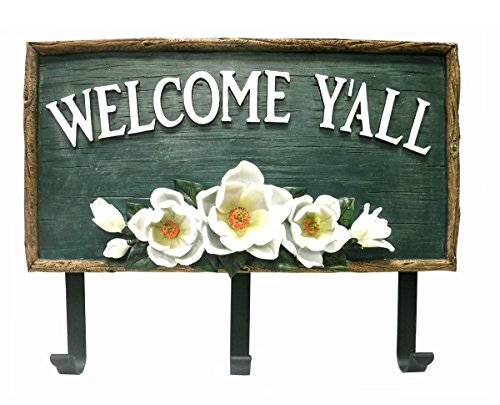 Welcome Y'all Decorative Magnolia Welcome Sign