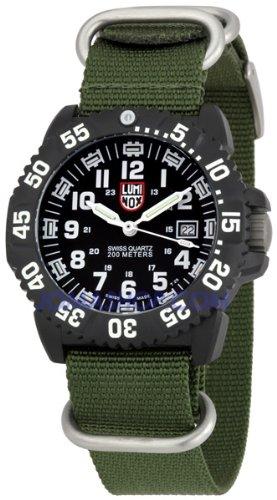 Luminox Navy Seal Colormark 3050 Watch Black/White NATO Green 22mm - Luminox 3051.NATO.GRN