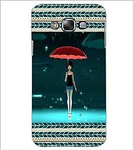 PrintDhaba Umbrella Girl D-5965 Back Case Cover for SAMSUNG GALAXY A7 (Multi-Coloured)