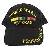 Eagle Emblems Men's World War Ii Veteran Proudly Served Hat