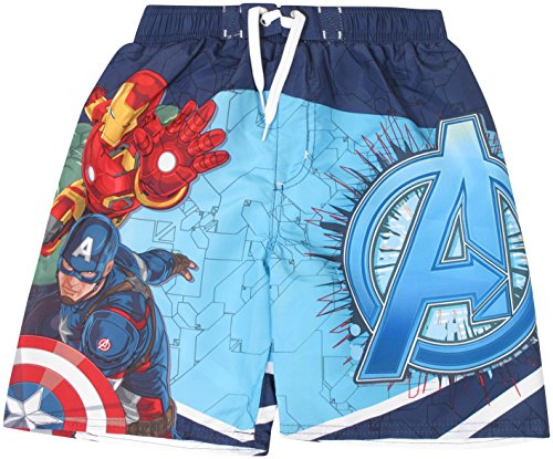 Marvel Avengers Big Boy's Swim Trunks 10/12 Avengers Blue (Boys Swim Trunks Marvel compare prices)