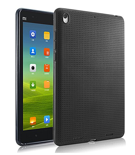 """Luxury High Quality Dotted Silicon Back Case Cover For Xiaomi Mi Pad 7.9"""" Tablet - BLACK"""
