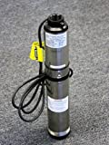 Hallmark Industries MA0414X-7A Deep Well Submersible Pump, 1 hp, 230V, 60 Hz, 33 GPM, 207' Head, Stainless Steel, 4""
