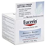 Eucerin Soothing Night Creme, Redness Relief, 1.7 oz.