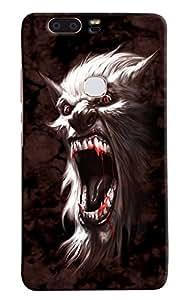 Omnam Wolf Annoying Printed Designer Back Cover Case For Huawei Honor V8