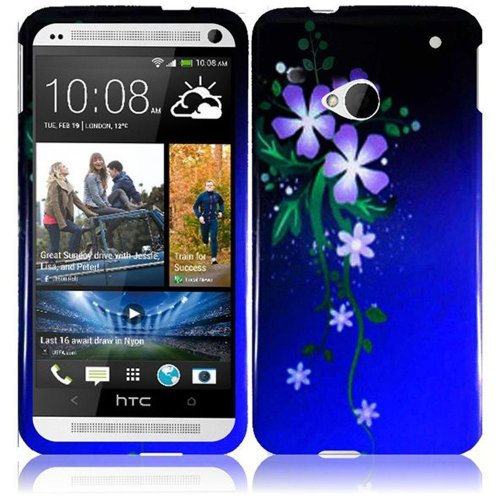 Cell Accessories For Less (Tm) For Htc One M7 Design Cover Case - Nightly Flower - By Thetargetbuys *Free Shipping*