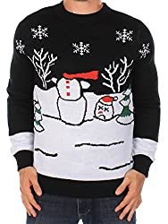 Ugly Christmas Sweater - Headless Snowman Sweater by Tipsy Elves (M)