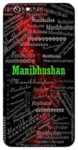 Manibhushan (An Ornament Of Jewels, Very Best Jewel) Name & Sign Printed All over customize & Personalized!! Protective back cover for your Smart Phone : Samsung Galaxy A-3