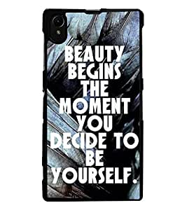 ColourCraft Quote Design Back Case Cover for SONY XPERIA Z1