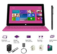 "Microsoft Surface Pro 2 Core i5-4200U 4G 64GB 10.6"" touch screen 1920x1080 Full HD Wacom Pen Windows 8 Pro Multi-position Kickstand(Without Dock,Pink Type Cover,4Gb 64GB) from Microsoft"