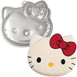 Hello Kitty Shaped Cake Pan: Cartoon Shaped Baking Utensil with Instructions