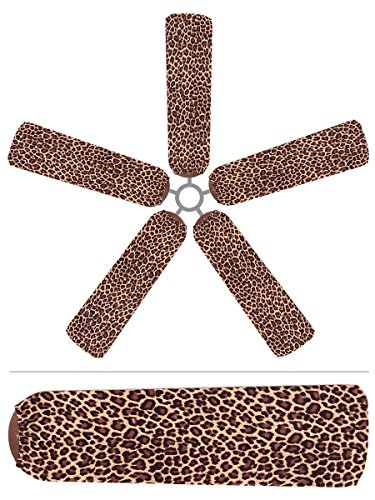 best decorative ceiling fan blade covers palm bamboo tropical cheap and colorful kims five. Black Bedroom Furniture Sets. Home Design Ideas