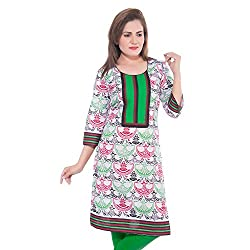Lal Chhadi Women's Multicolor 3/4 Sleeve Cotton Kurta