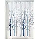 InterDesign Forest Shower Curtain, Blue and Gray, 72 x 72-Inch