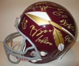 2013 Washington Redskins Team Autographed / Signed Throwback Riddell Full Size Football Helmet with 26 Signatures Total, Proof Photos