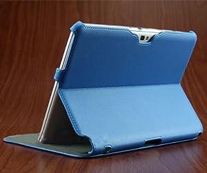 IVSO® Etui Housse en Cuir Ultra-mince avec Support de Multi-angle pour Samsung Galaxy Note 10.1 N8000 N8010 (Bleu)