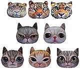 【HIROANO】 猫顔 クッション かわいい ふっくら やわらか アニマル 猫 ハンドタオル付き (タマ)