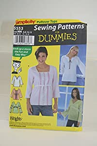 Knitting Patterns For Dummies Free Download : Amazon.com: Simplicity Sewing Pattern for Dummies 5553 Pullover Tops Sizes 6-...