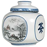 Winter Scene Tea Canister