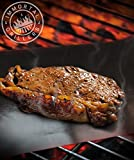 BBQ Grill Mat (2 Pack) - Grilling Made Easy & Safe - Extend The Life Of Your Weber Grill With Highest Quality Material Grill Mat, Extra PTFE Coating For Ultimate Non Stick Cooking - More Versatile Than Miracle & Yoshi Grill Mats - Grill Anything You Can Think Of - Now Anyone Can Be A Grill Master!