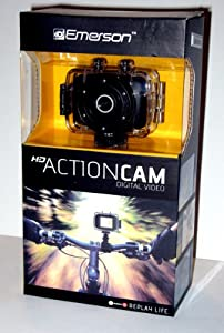 Emerson Go Action Cam 720p HD Digital Video Camera Pro Grade 5 mp Video With Screen