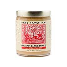 Volcano Island Honey, Organic Raw White Honey with Ginger, 8 oz