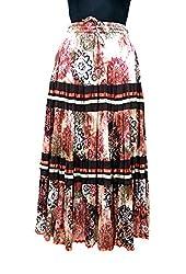 COTTON BREEZE Women's Cotton Regular Fit Skirt (Beige)