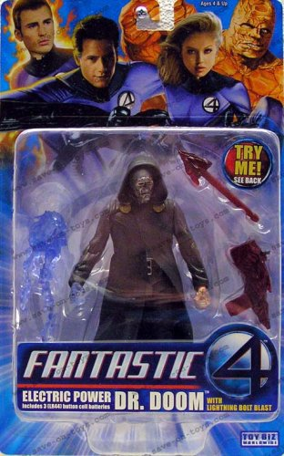 Fantastic 4 Electric Power Dr. Doom with Lightning Bolt Blast Action Figure