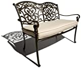 Strathwood St. Thomas Aluminum 2 Seater Loveseat with Seat Cushion