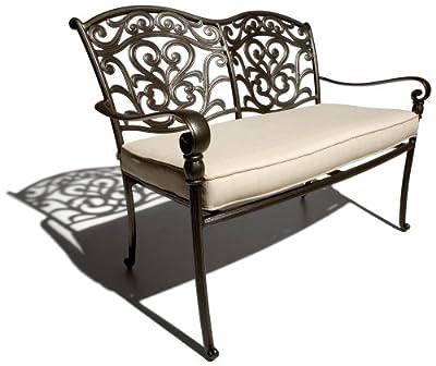 Cool Strathwood St Thomas Aluminum Seater Loveseat with Seat Cushion ue ue