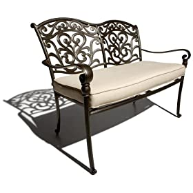 Strathwood St Thomas Aluminum 2 Seater Loveseat With Seat