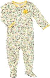 Carter\'s 1-piece Poly Pajamas (24 Months, Yellow Floral)