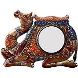 Divraya Wood Camel Wall Mirror (60.96 Cm X 4 Cm X 45.72 Cm)