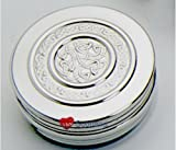 Round Pewter Trinket Box With Insert Celtic Rope - 50mm