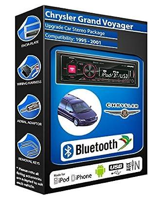 Chrysler Voyager Grand autoradio Alpine UTE 72BT mains-libres Bluetooth pour autoradio stéréo
