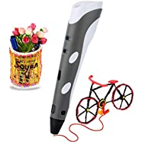 Soyan 3D Printing Pen for Doodling with 30 Grams 1.75mm ABS Filament (Gray)