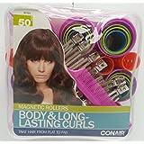 CONAIR MAGNETIC ROLLER SET Body & Fullness, 50 Pieces (Packaging Varies)