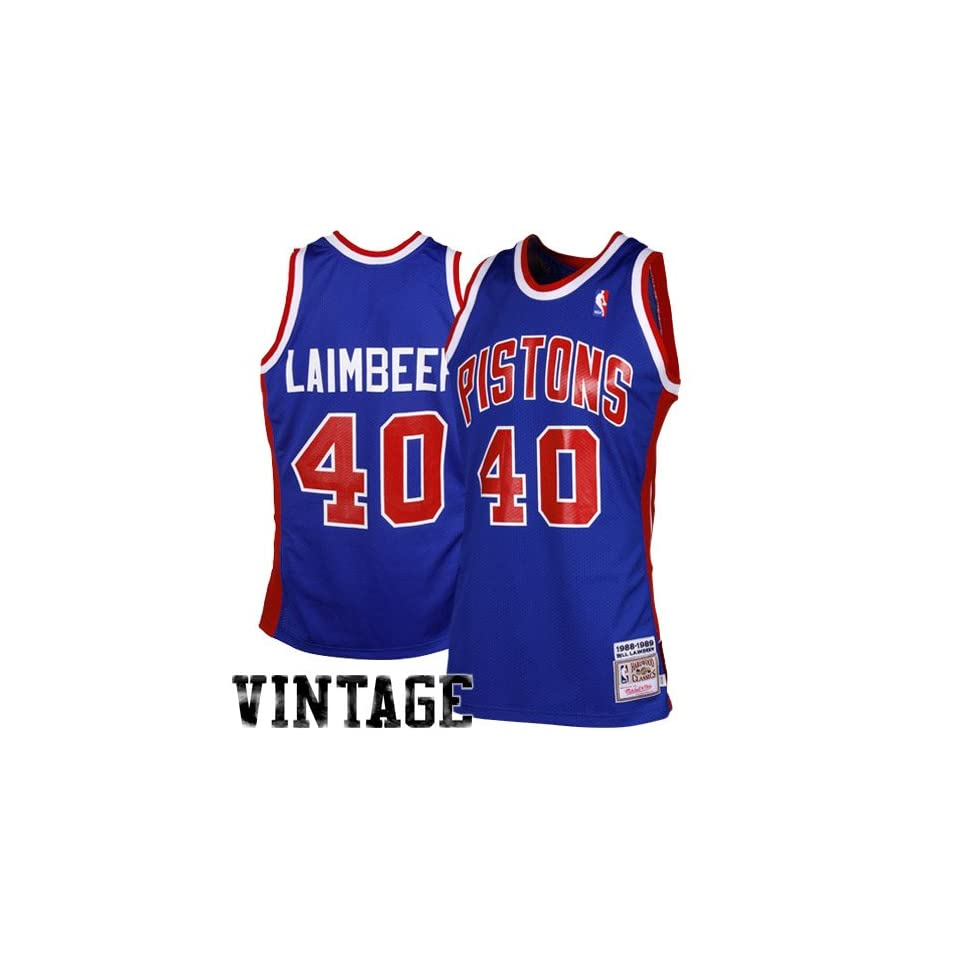 8820895c83b2 Detroit Piston Jersey Mitchell   Ness Bill Laimbeer Detroit Pistons 1988  1989 Throwback Authentic Jersey Royal Blue