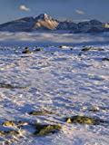 Wind-Blown Snow and Longs Peak, Rocky Mountain National Park, Colorado, USA Photographic Poster Print
