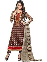 Orange Fab Women's Straight Salwar Suit Dress Material