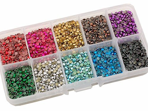 Summer-Ray.com SS10 2.8mm Assorted Color Hot Fix Rhinestuds In Storage Box (Heat Rhinestones compare prices)