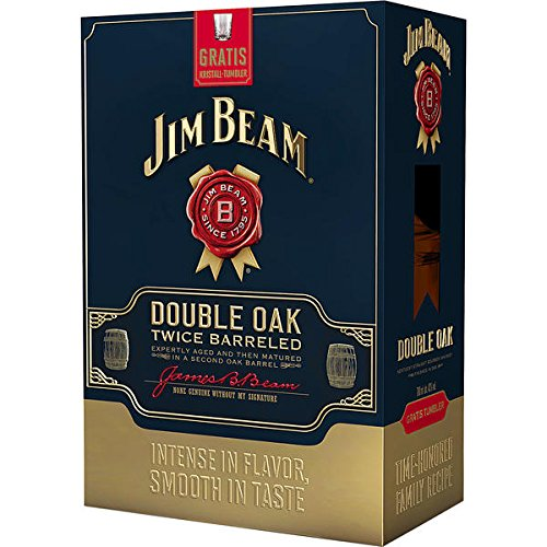 jim-beam-double-oak-twice-barreled-43-vol-70cl-with-crystal-tumbler-gift-set