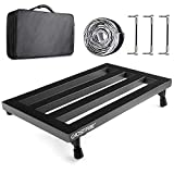 """Vangoa - Guitar Pedal Board Aluminum Alloy 3.3lb. Lightweight Pedalboard 19.8"""" x 11.5"""" with Carry Bag, Guitar Pedal Cable"""
