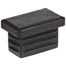 Kapsto 270 R 2015 1.5 - 2 Polyethylene Rectangular Plug, Black, 20x15 mm (Pack of 100)